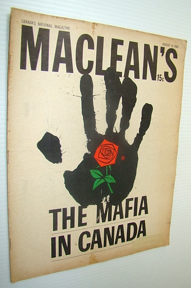 Image for Maclean's Magazine, August 24, 1963 - The Mafia in Canada