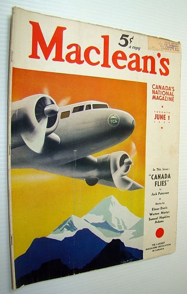Image for Maclean's - Canada's National Magazine, June 1, 1939 - Trans-Canada Airlines (TCA) Takes to the Air!