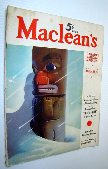 Image for Maclean's - Canada's National Magazine, 15 January, 1940 - Skiing Brings Business Success to the Laurentians