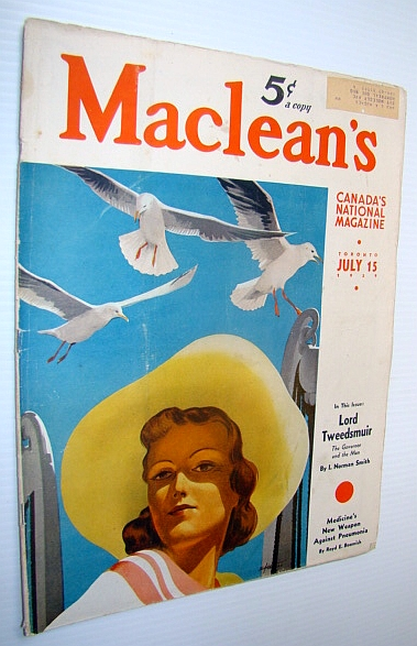 Image for Maclean's - Canada's National Magazine, 15 July 1939 - Governor-General Lord Tweedsmuir