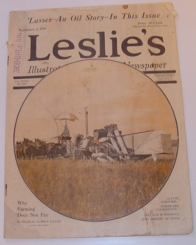 Image for Leslie's Illustrated Weekly Newspaper: September 4, 1920, Vol. CXXXI. No. 3384