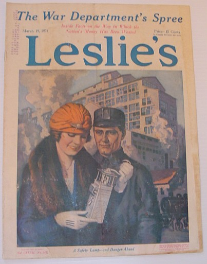 Image for Leslie's Illustrated Weekly Newspaper: March 19, 1921, Vol. CXXXII. No. 3412