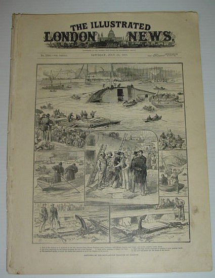 Image for The Illustrated London News: July 14, 1883 *Daphne Ship-Launch Disaster at Glasgow*