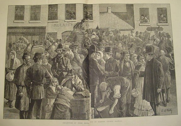 Image for The Illustrated London News: July 21, 1883 *Departure of Irish Emigrants*