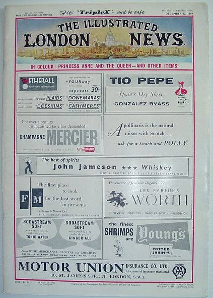 Image for The Illustrated London News - December 12, 1959