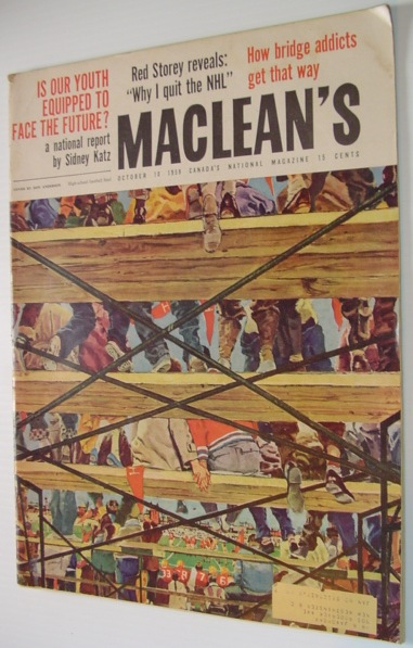 Image for Maclean's Magazine - October 10 1959 Issue *Feature Article: Beothuck Indians Murdered For Fun / Duddy Kravitz