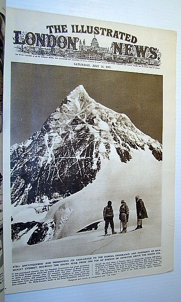 Image for The Illustrated London News, July 26, 1952 - Swiss Everest Attempt / Photos of Helsinki (Finland) Olympic Opening Ceremonies
