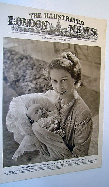 Image for The Illustrated London News, September 23 1950 - Gorgeous Cover Photo of Princess Elizabeth with Month-old Princess Anne / Korean War Coverage