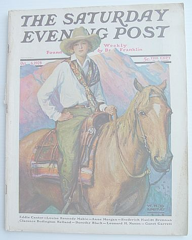 Image for The Saturday Evening Post Magazine: Volume 201 October 6, 1928 Number 14