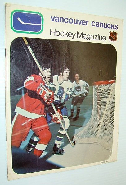 Image for Vancouver Canucks Hockey Magazine, December 26, 1970, Vol 1 No. 17 - Cover Action of Photo of Nick Libett, Dale Tallon and Murray Hall