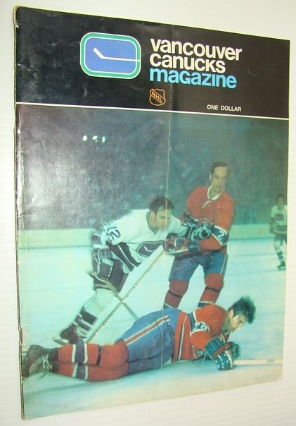Image for Vancouver Canucks Hockey Magazine, October 22, 1971, Vol 2 No. 8 - Cover Photo of the Canucks and Canadiens Featuring Jacques Laperriere