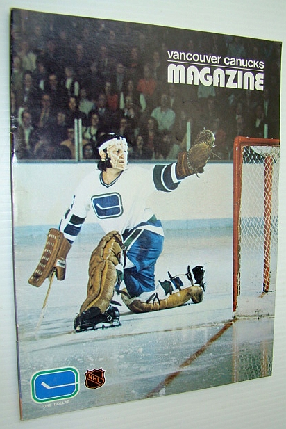 Image for Vancouver Canucks Hockey Magazine, November 3, 1972 - Great Colour Cover Photo of Canuck Goalie Dunc Wilson in Action