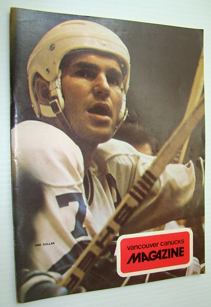 Image for Vancouver Canucks Magazine, November 16, 1973 - Nice Colour Cover Photo of Superpest Andre Boudrias