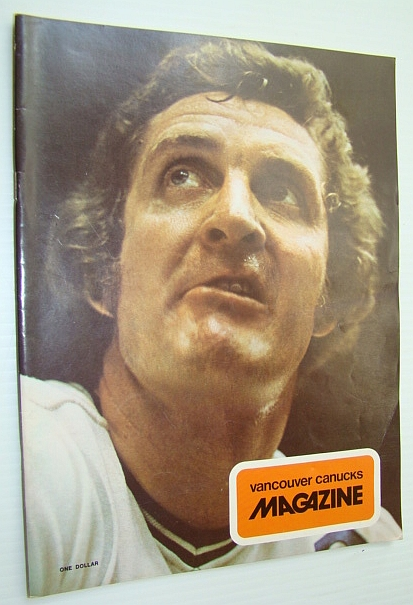 Image for Vancouver Canucks Magazine, November 17, 1973 - Great Colour Cover Photo of a Gnarly-looking Orland Kurtenbach