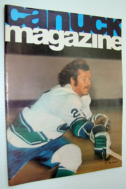 Image for Vancouver Canuck Magazine, October 22, 1974 - Colour Cover Photo of John Gould