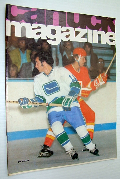 Image for Vancouver Canuck Magazine, October 29, 1974 - Colour Cover Photo of Paulin Bordeleau