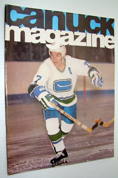 Image for Vancouver Canuck Magazine, November 12, 1974 - Colour Cover Photo of Andre Boudrias