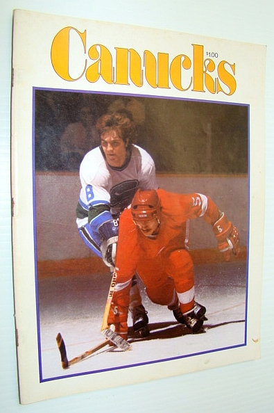 Image for Vancouver Canuck Magazine, March 15, 1977 - Colour Cover Photo of Rick Blight in Action