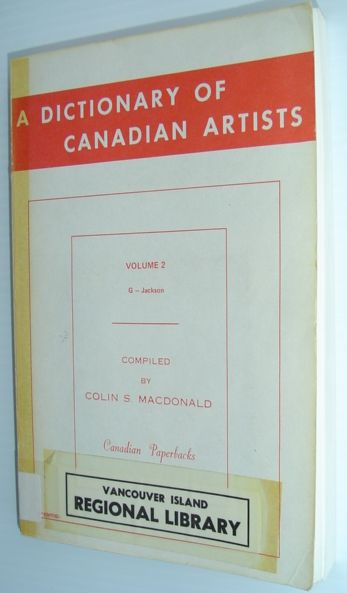 Image for A Dictionary of Canadian Artists, Vol. 2: G to Jackson