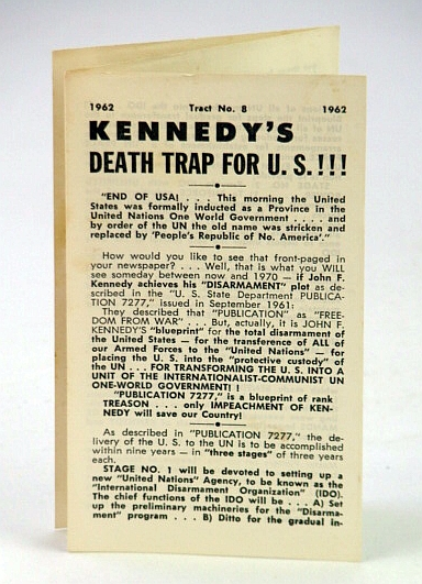 Image for Kennedy's (JFK's) Death Trap for U.S. (United States): Tract No. 8 (Eight) - 1962
