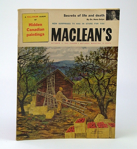 Image for Maclean's - Canada's National Magazine, October (Oct.) 13, 1956: Annacis Island - Industrial Colossus in the Making / The Black Day the Quebec Bridge Fell