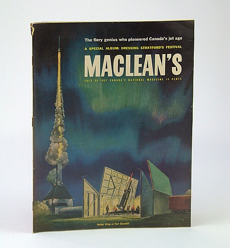 Image for Maclean's - Canada's National Magazine, July 20, 1957 - Sir Roy Dobson Pushed Us Into the Jet Age / Tanya Moiseiwitsch is the Designing Woman of Stratford / Prospector Viola MacMillan