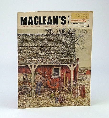 Image for Maclean's, Canada's National Magazine, November (Nov.) 1, 1952 - Looting Our History on Manitoulin Island