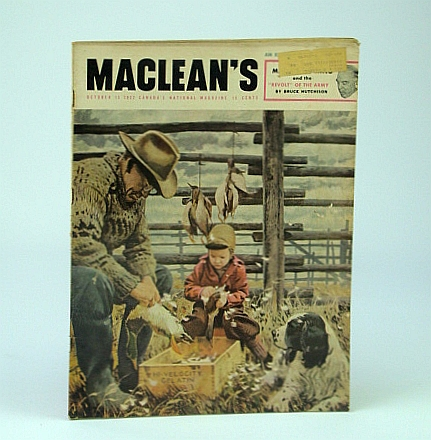 Image for Maclean's, Canada's National Magazine, October (Oct.) 15, 1952 -  A.G. Malan / Simpson's and Sears to Merge