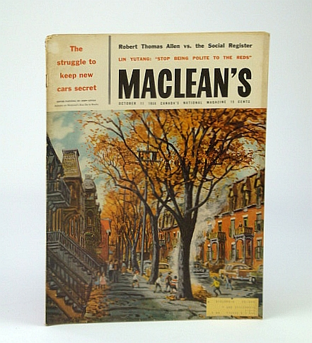 Image for Maclean's - Canada's National Magazine, October (Oct.) 11, 1958 - Memoirs of A.Y. Jackson / Herman Geiger-Torel / Soapy Smith