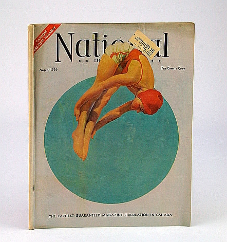 Image for National Home Monthly Magazine, August (Aug.) 1936 - Lacrosse Comes Back! / The Future of Canadian Trade