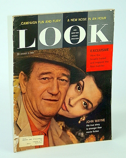 Image for Look - America's Family Magazine, August (Aug.) 2, 1960 - Albert Lasker / Untold Story of Adolph Eichmann / John Wayne Cover Photo