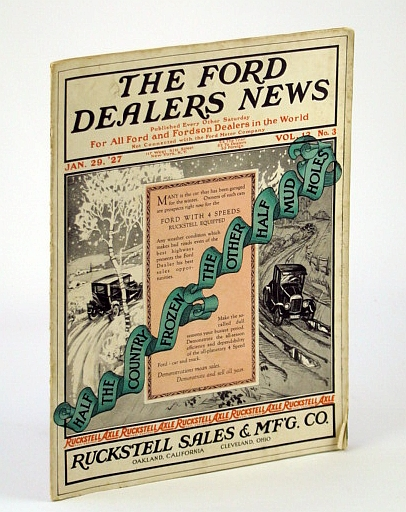 Image for The Ford Dealers News - For All Ford and Fordson Dealers in the World, January (Jan.) 29, 1927, Vol. 12 No. 3 - Help With Used Car Problems