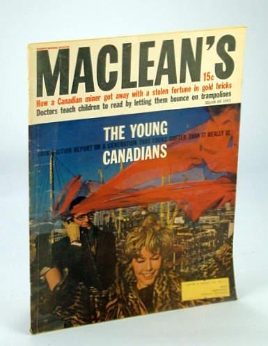 Image for Maclean's - Canada's National Magazine, March (Mar.) 25, 1961: The Young Canadians - Four-Section Report