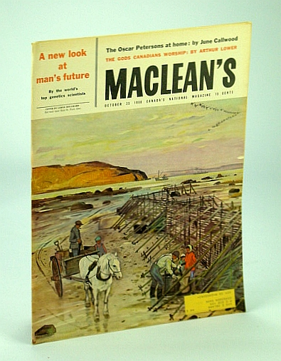 Image for Maclean's - Canada's National Magazine, October (Oct.) 25th, 1958 - The Oscar Peterson's at Home