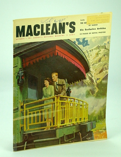 Image for Maclean's - Canada's National Magazine, October (Oct.) 1, 1951 - Royal Visit Issue