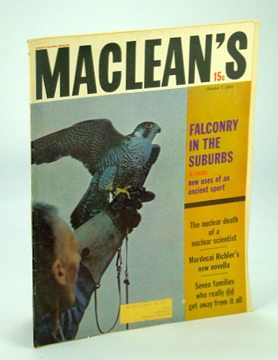 Image for Maclean's, Canada's National Magazine, October (Oct.) 7, 1951 - Radiation Death of Louis Slotin / Mordecai Richler Novella