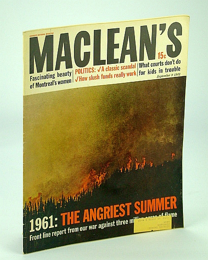 Image for Maclean's - Canada's National Magazine, 9 September (Sept.) 1961: Forest Fires / Brock Chisholm