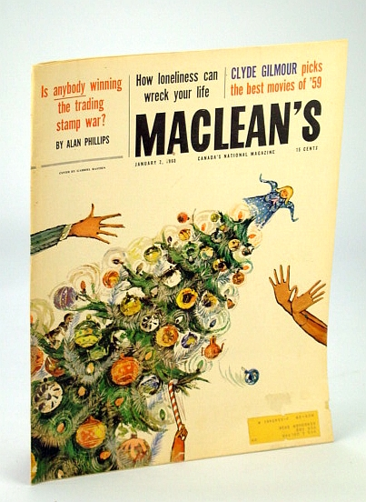 Image for Maclean's - Canada's National Magazine, 2 January (Jan.) 1960: The Trading Stamp War / Mr. & Mrs. Jan Rubes / Bill Smith