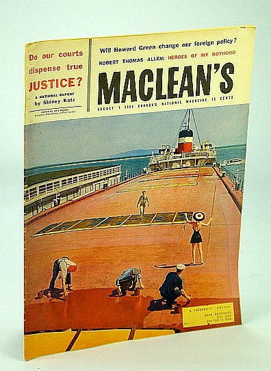 Image for Maclean's - Canada's National Magazine, 1 August (Aug.) 1959 - I Survived the Sinking of the Lusitania
