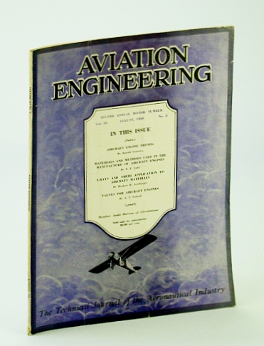 Image for Aviation Engineering (Magazine) - The Technical Journal of the Aeronautical Industry, August (Aug.) 1930 -  Aircraft Engine Trends
