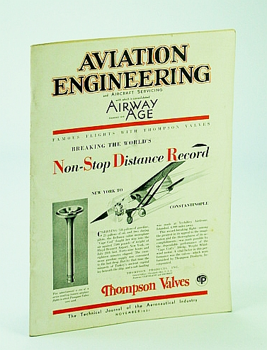 Image for Aviation Engineering and Aircraft Servicing (Magazine), With Which is Consolidated Airway Age - The Technical Journal of the Aeronautical Industry, November (Nov.) 1931 - Sikorsky's Contributions to Huge Amphibions - The S-40