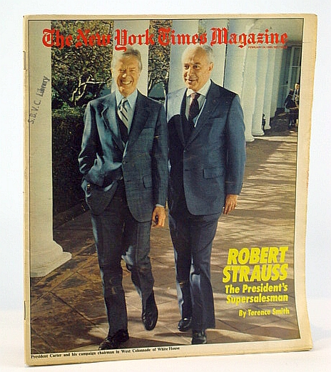 Image for The New York Times Magazine, February (Feb.) 24, 1980 - Cover Photo of Jimmy Carter and Robert Strauss / Roone Arledge
