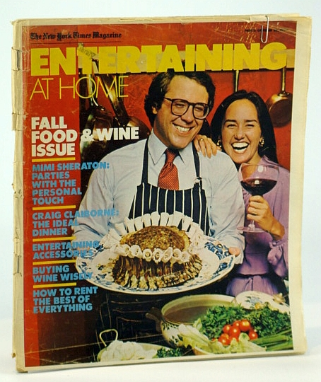 Image for The New York Times Magazine - Entertaining at Home - Fall Food & Wine Issue, October (Oct.) 28 1979  - Cover Photo of Gustave Reininger and Margit Pearson