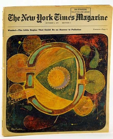 Image for The New York Times Magazine, October (Oct.) 3, 1971 -  The Wankel (Rotary) Engine
