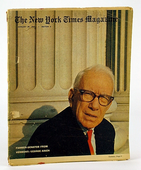 Image for The New York Times Magazine, January (Jan.) 29, 1967 - The Electric Car / Cover Photo of  Vermont Senator George Aiken