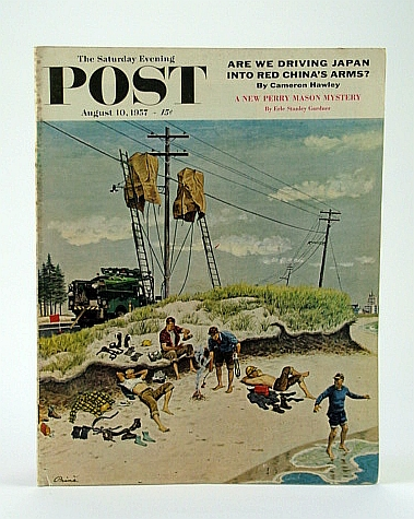 Image for The Saturday Evening Post, August (Aug.) 10, 1957 -  Secrets of WWII in Greenland