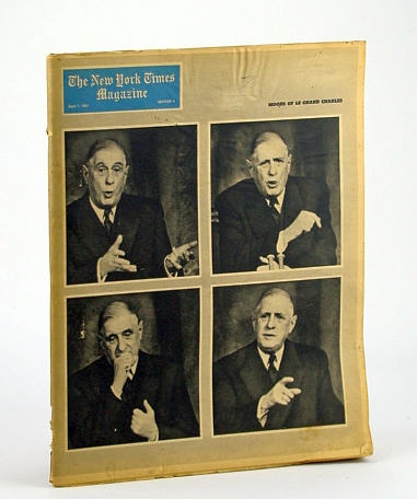 Image for The New York Times Magazine, April (Apr.) 7, 1963 - Cover Photos of Charles De Gaulle