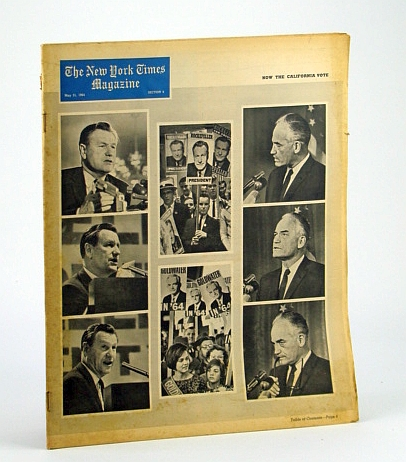 Image for The New York Times Magazine, May 31, 1964 - Cover Photos of Nelson Rockefeller and Barry Goldwater / Pop Art Feature Article