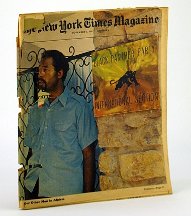 Image for The New York Times Magazine, November (Nov.) 1, 1970 -  Eldridge Cleaver Cover Photo Outside Black Panther Party Office in Algiers