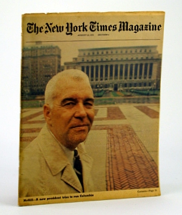 Image for The New York Times Magazine, August (Aug) 23, 1970 -  Columbia University Chancellor William J. McGill Cover Photo